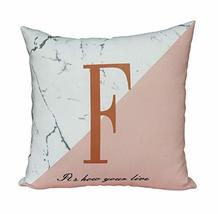 Gentle Meow Simple Living Room Sofa Seat Cushion Pillow, English Letter F - €28,52 EUR