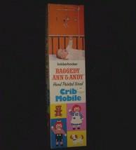 Vintage 1972 Knickerbocker Raggedy Ann Berceau Portable Bébé En Boîte Ki... - $18.52
