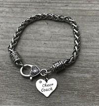 SportyBella Cheer Coach Heart Charm Rope Bracelet,Custom Cheerleading Co... - $15.00