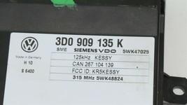 Keyless Entry Kessy Theft Locking Control Module Ecu Ecm 3d0909135K Bentley  image 2