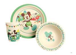 Disney Mickey Celebrations Bamboo Dinnerware Set, Multicolor, 3-Piece - $29.39