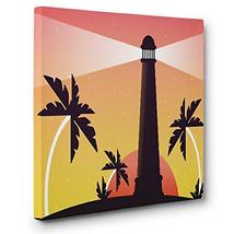Lighthouse Palm Trees CANVAS Wall Art Home Décor - $37.31