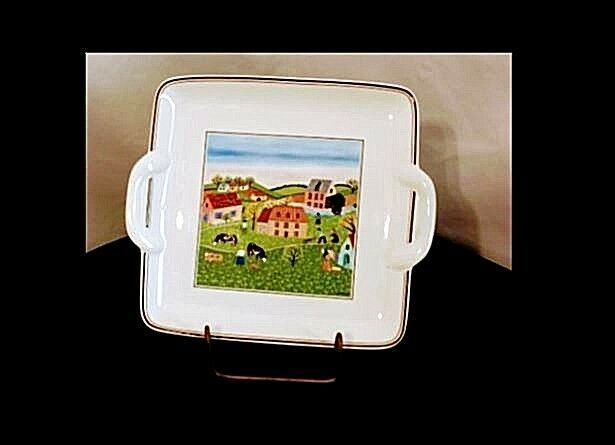 Spring Morning Square Dish AB 298 Vintage