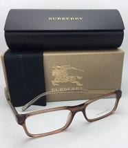 New BURBERRY Eyeglasses B 2223 3564 54-17 145 Brown Transparent & Burberry Plaid