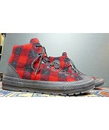 Converse All Star Woolrich Buffalo Plaid Wool Upper High Top Sz. 13 MINT! - $51.60