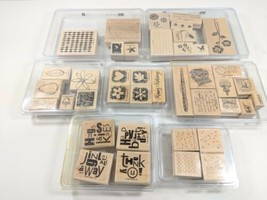 Stampin Up Rubber Stamp Collection 41 Stamps Scrapbooking Set (purphg)  - $32.99