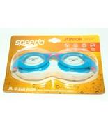 Speedo Jr Clear Rush Goggles Junior Ages 6-14 Recreation Swim Goggles Br... - $0.99