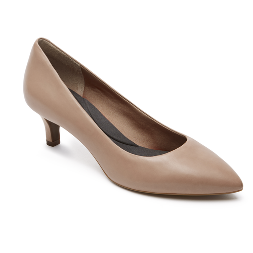 Womens Rockport Total Motion Kalila Pump - Taupe Leather Size 9.5 [V79018]