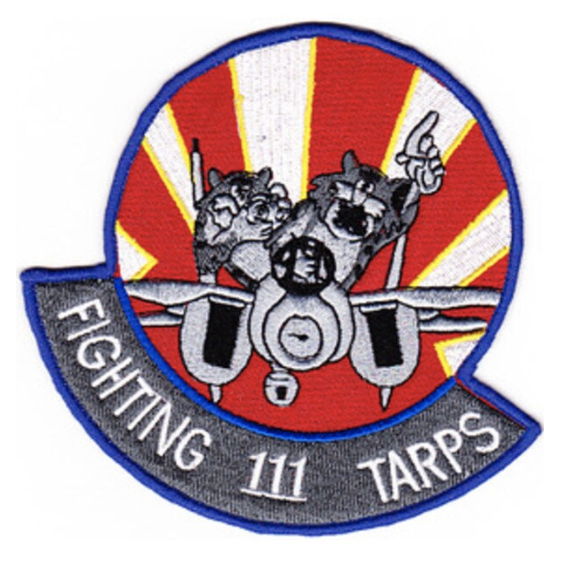 "Primary image for 4.5"" NAVY VF-111 TOMCAT FIGHTING TARPS EMBROIDERED PATCH"