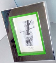 "Kate Spade Lenox Cabo Isabella Picture Frame 5X7"" Silverplate & Green New - $49.90"
