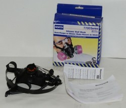 North Safety Products 770030L Silicone Half Mask Large Cartridges Not Included image 1