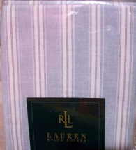 Ralph Lauren Hope Chest King Flat Sheet 100%COTTON Stripe Blue Made In Italy New - $249.50