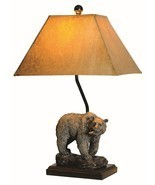 "Bear Table Lamp Rustic Cabin Lodge Decor Bears Wildlife 24""H - £102.08 GBP"