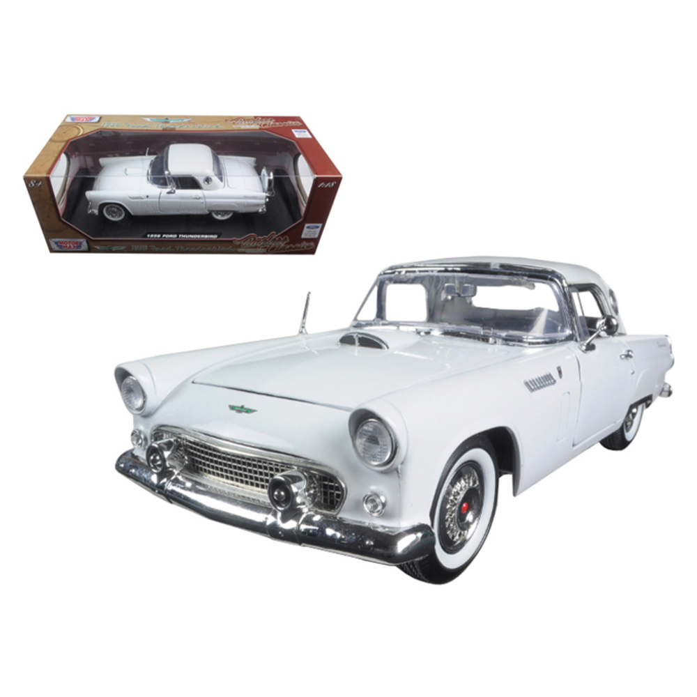 1956 Ford Thunderbird White Timeless Classics 1/18 Diecast Model Car by Motormax