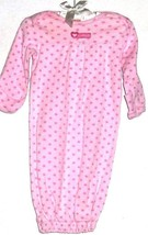 GIRLS PINK ELASTIC BOTTOM MITTEN SLEEPER SIZE 3 MONTHS - $3.00