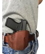 Brown Leather Belt Slide Gun holster For Hi-Point C-9,CF-380 - $39.95