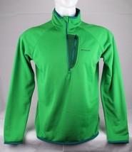 Columbia men's shirt half zipper polyester long sleeve green size L/G - $23.11