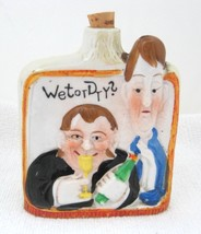 "Wet Or Dry Made in Japan Laurel & Hardy Bottle Flask 3 1/8 x 3 5/8 x 3 1/8"" - $39.11"