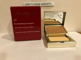 Clarins Everlasting Compact Long Wearing Foundation + #117 Hazelnut NIB .3 oz - $14.84