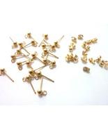 14k Ball Earring 3mm with Earnut Clutch Earring Findings - $36.00