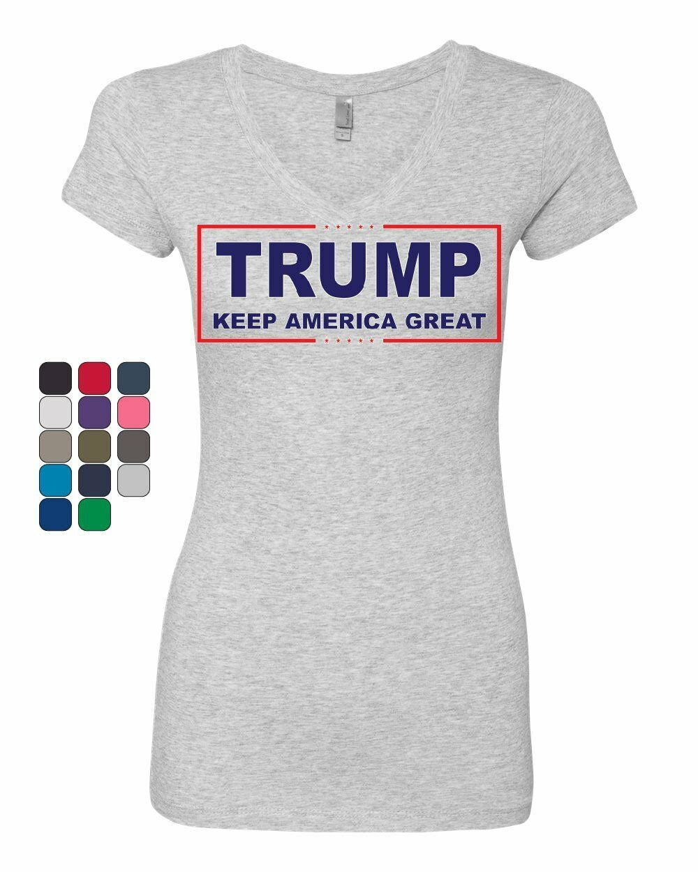 Primary image for Trump Keep America Great Women's V-Neck T-Shirt 2020 Election Republican POTUS