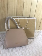 MICHAEL KORS JET SET LARGE CHAIN SHOULDER TOTE BAG LEATHER $378 OYSTER G... - $280.58