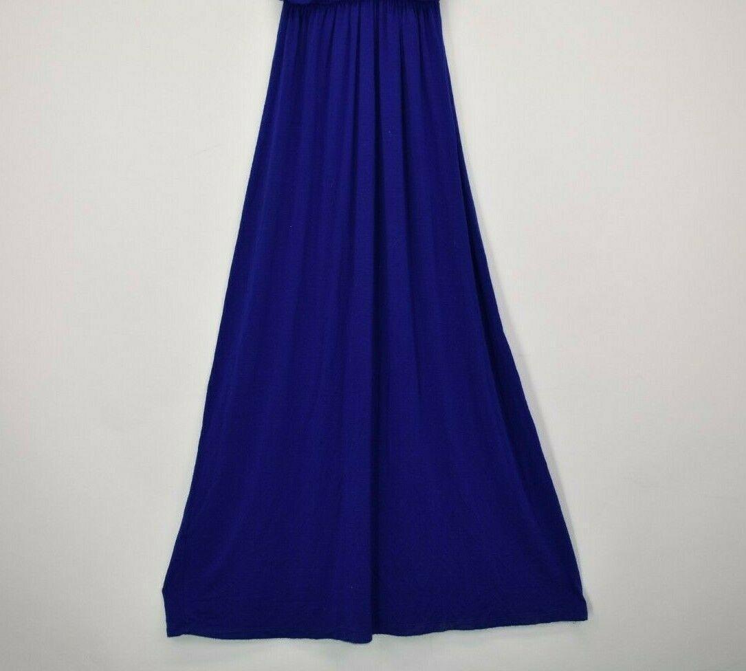Lush Women's XS Sleeveless Summer Long Beach Look Vacation Maxi Dress Blue