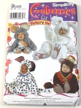 Simplicity 3598 Costumes  Mouse Monkey Dog Bunny Toddler Size 6 Months to 4 - $12.99
