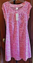 Pink & White Motherhood Maternity cap sleeve pocket Dress New W Tags Size S - $21.03