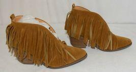 Beast Fashion Carrie 01 Camel Fringe Slip On Shoes Size Seven image 3