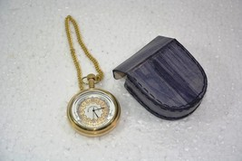 Battery Powered Hand Made Stylist WEST END Pocket Watch With Leather Cas... - $31.31