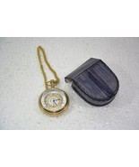Battery Powered Hand Made Stylist WEST END Pocket Watch With Leather Cas... - $52.79