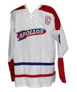 Custom Name # Houston Appolos Retro Hockey Jersey New White Any Size - $54.99+