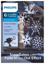 Philips 6 Focusable Projectors Snowflakes Indoor/Outdoor Cool White New in Box