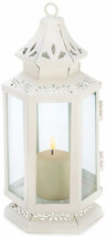 Gifts and Decor Victorian Lantern Candle Holder, Small, White - $36.84