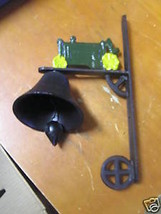 Great CAST IRON Bell...GREEN TRACTOR decor......................SALE - $14.85