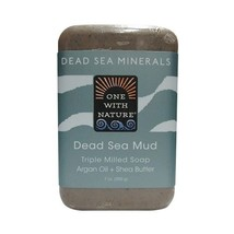 One With Nature Dead Sea Mud Dead Sea Minerals Soap, 7 Ounce Bar - $8.66