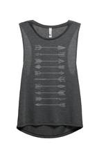 Thread Tank Arrows Evolution Women's Sleeveless Muscle Tank Top Tee Char... - $24.99+