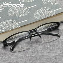 Glasses Reading Half Frame Eyewear Men Ultra Light Black Strength  - $5.63