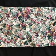 "LAURA ASHLEY RUBENS FRUIT FLOWERS VALANCE  83"" x 18"" - $21.66"