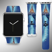 Cinderella Castle Disney Apple Watch Band 38 40 42 44 mm Fabric Leather Strap - $24.97