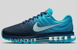New Nike Air Max 2017 Gs Grade School Szs: 5Y(23.5cm) & 6Y(24cm) Blue 851622-401 - $119.99