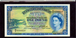 BERMUDA 1 POUND 1966 QUEEN ELIZABETH II SUPERB GEM UNCIRCULATED GRADED - $475.00