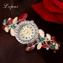 Lvpai® Luxury Gold Bracelet Watch Women Flower Fashion Wristwatch Crysta... - $6.49