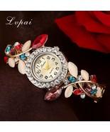 Lvpai® Luxury Gold Bracelet Watch Women Flower Fashion Wristwatch Crysta... - $6.09