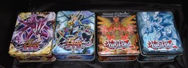 4 YU-Gi-Oh! Collectible Tin box Tins Boxes only no cards 2- 2010,2012,2013 - $13.85