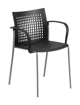 Offex Ergonomically Contoured Stack Chair with Air Vent Back and Arms - ... - $58.38