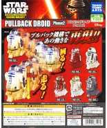 TAKARA TOMY STAR WARS Characters GACHA GALAXY PULLBACK DROID Phase 2 Ful... - $49.89