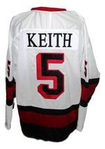 Custom Name # Penticton Panthers Retro Hockey Jersey New White Any Size image 4