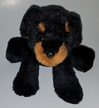 "Puppy Dog Bean Bag Plush Stuffed Animal Toy Aurora SOFT 6"" Black Brown 2014 - $14.80"
